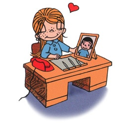 Love is having his picture on your desk and your love in his heart.